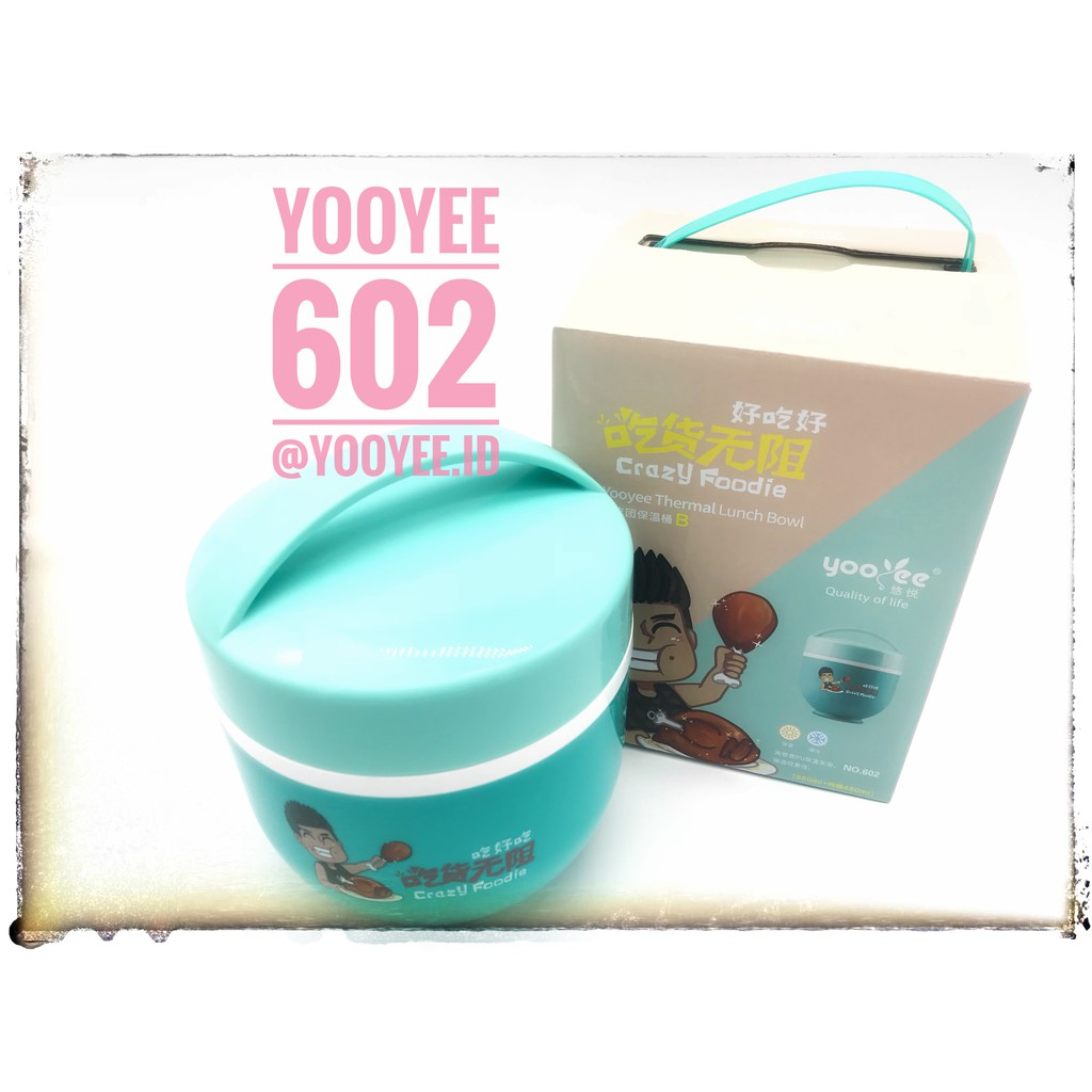 YOOYEE LUNCH BOX THERMAL BOWL / KOTAK MAKAN ANAK BPA FREE 1000ML 603 | Shopee Indonesia