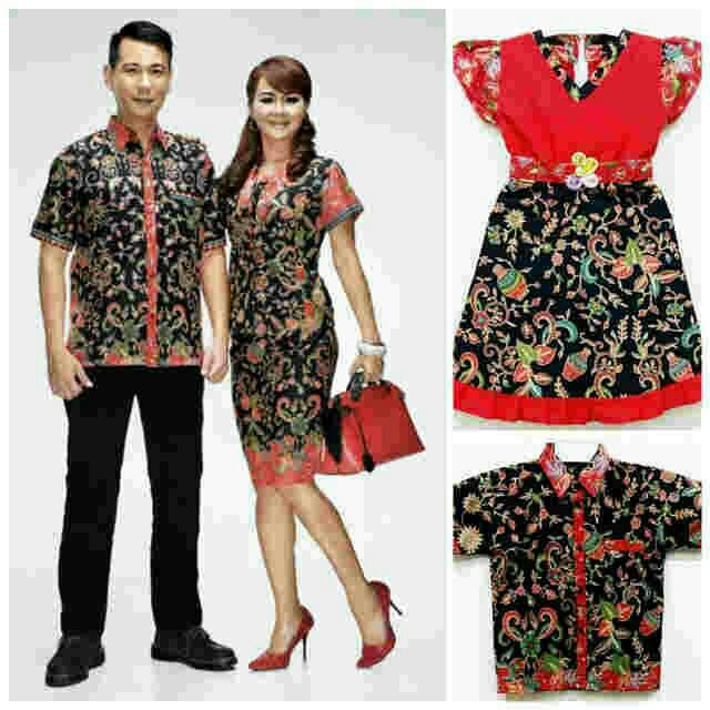 Batik Couple 022 Satimbit Wanita Setelan Rok Blouse Seragam Keluarga Katun Cibulan Murah