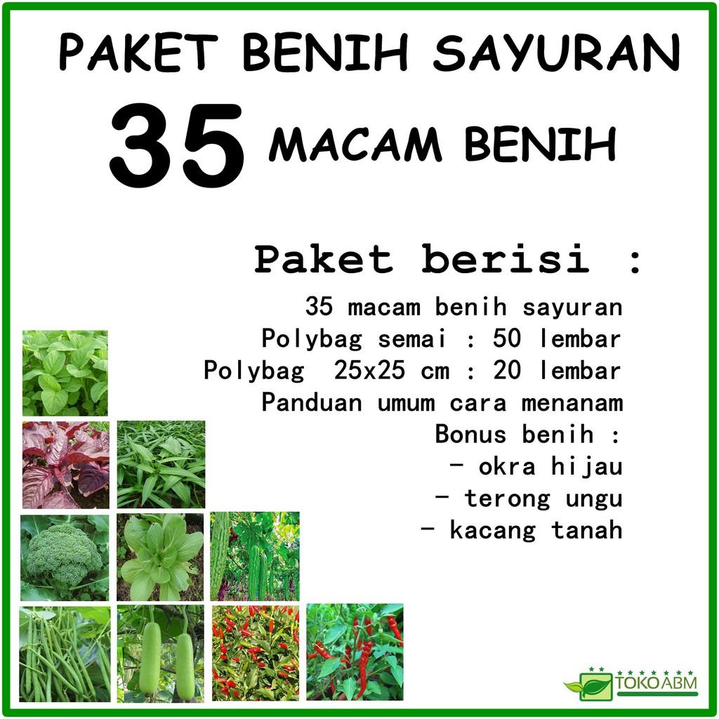 Macam Macamkemasan: Paket Benih Sayuran 35 Macam Biji Benih Tanaman Sayuran
