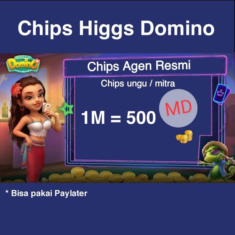 Chip Koin Ungu MD Eceran Higgs Domino Island Murah