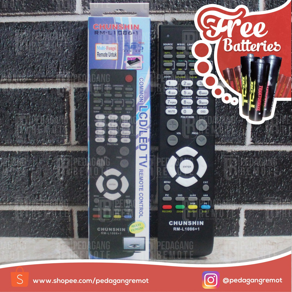 Remot Remote Tv Polytron Tabung Minimax Polyvision Digitec Dll Sharp Lcd Led Aquos Shopee Indonesia
