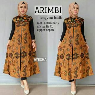 Arimbi Longvest Batik Modern Terbaru Kebaya Muslim Hijab Gamis Muslimah Seragam Kondangan Pesta