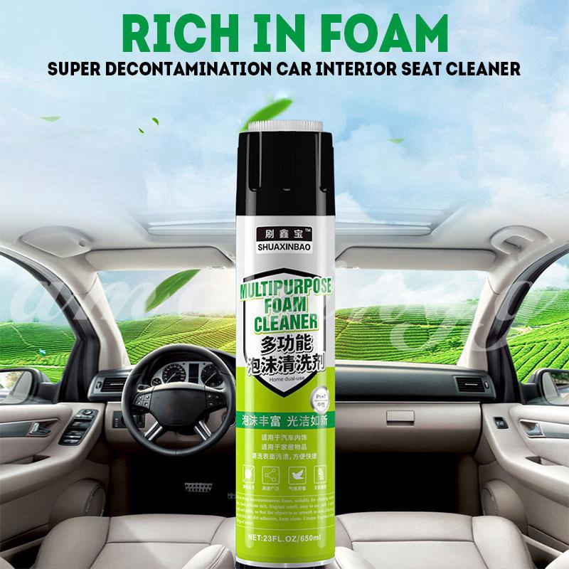 Foam Cleaner Car Interior Cleaning Car Washing 650ml No Rinse Decontamination Multifunction Shopee Indonesia