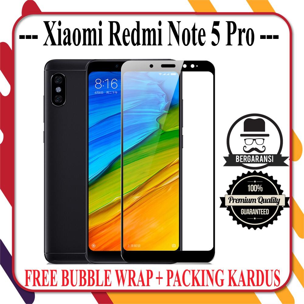Xiaomi Redmi Note 5 Pro 5D Tempered glass full Screen Guard Full Lem Edge Pelindung Layar Protector | Shopee Indonesia
