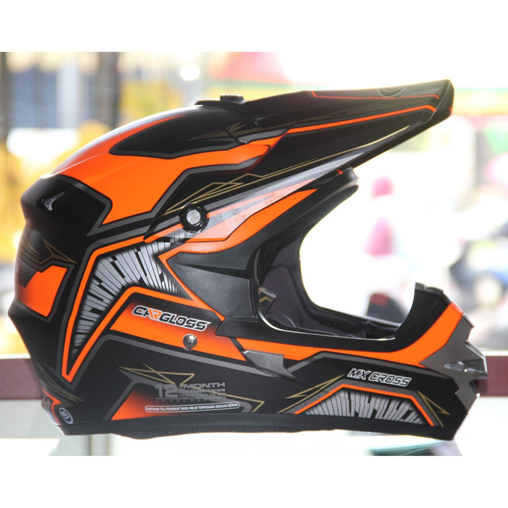 Promo Helm Cross Cargloss Mxc Supercross Grey Black Green Full Face Motosport Motocross Orange Deep Size Xl Shopee Indonesia