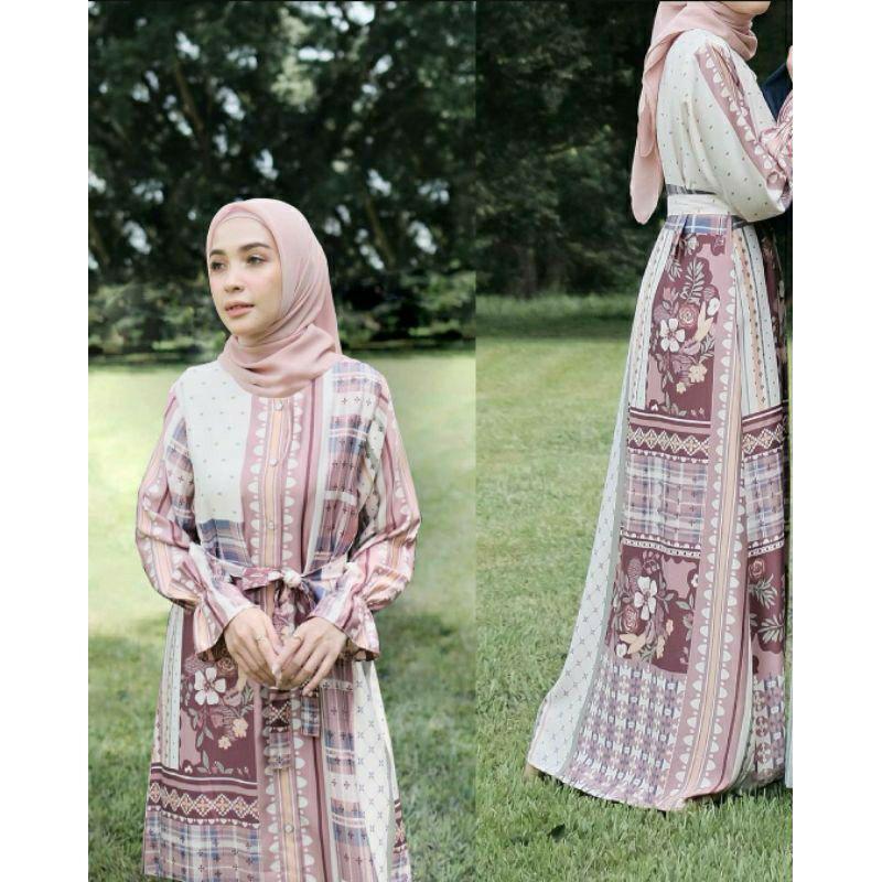 Vanilla hijab dress binar series Capsule Collection