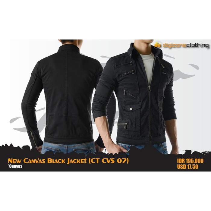 ca40f9be9 New Canvas Black Jacket (CT CVS 07)