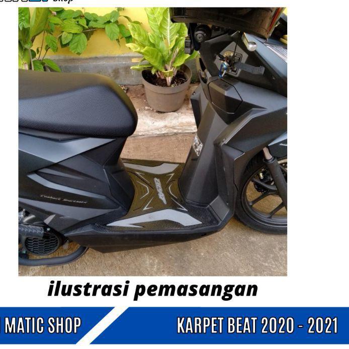 Monster Keset Motor Beat Karpet Beat Esp Deluxe - Beat Street 2020 2021 Pijakan Alas Kaki Motor Beat