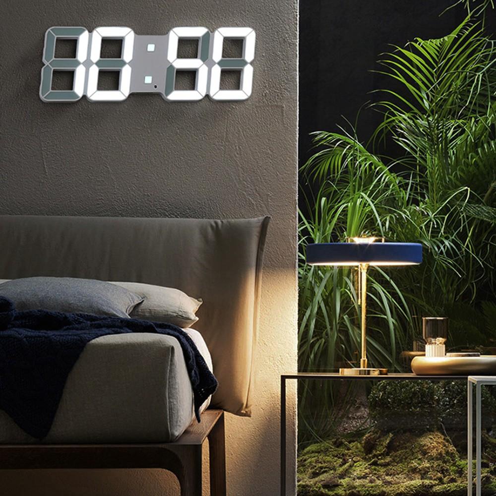 3d Led Digital Wall Clock Date Time Nightlight Display Table Desktop Clocks Alarm Clock Home Living Shopee Indonesia