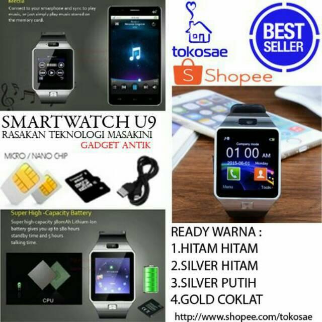 Smartwatch A1 / U10 Jam Tangan HP SILVER Bonus Baterai Smart Watch | Shopee Indonesia