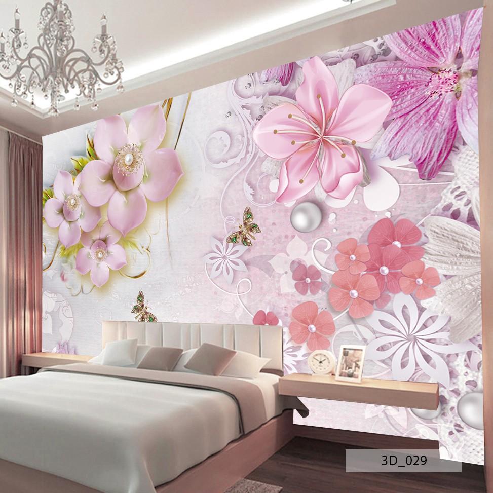 Jual 3D Wallpaper Custom Murah Gambar Bunga