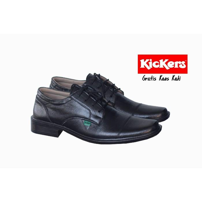 Sepatu Pantofel Kickers Tali   Sepatu Kulit Murah   Sepatu Formal Pria .  484f45c53d