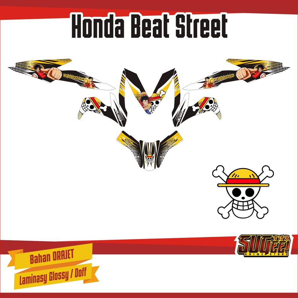 Sticker anime decal motor honda beat street luffy one piece shopee indonesia