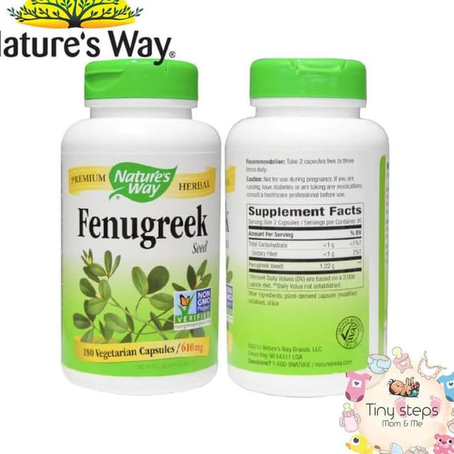Nature's Way Fenugreek Seed 610mg, 180 Vegetarian Caps | Shopee Indonesia
