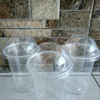 Perbandingan harga Gelas Plastik PP 16oz / 18oz Plastic Cup PP 16 oz / 18 oz PLUS TUTUP CEMBUNG LID DOME TERBARU READY lowest price - only Rp478