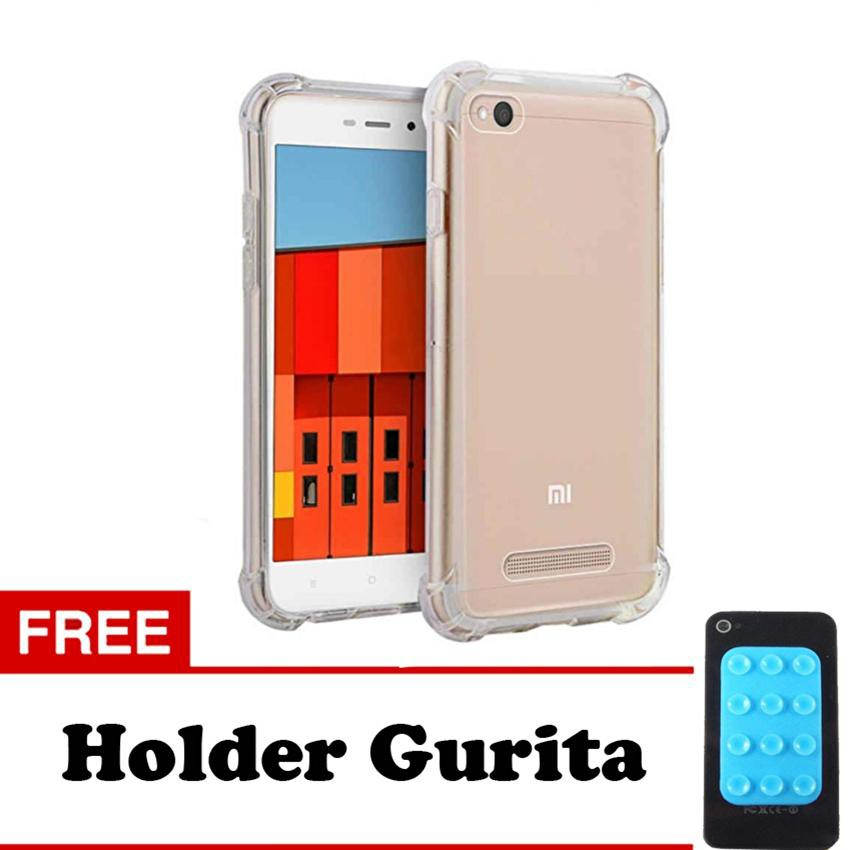 Softcase Anti Shock Anti Crack For Xiaomi Redmi 4 Aircase - Putih Transparant + Free Holder Gurita | Shopee Indonesia