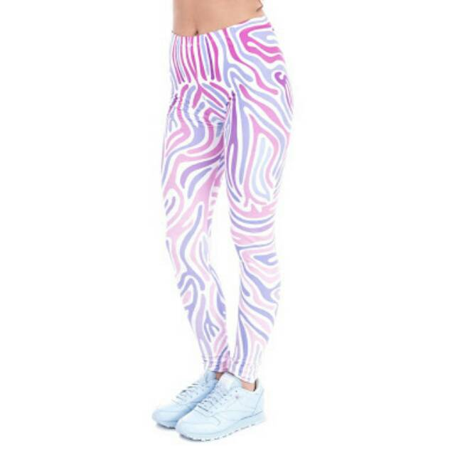 Legging Yoga Motif Abstrak Ready Stock Shopee Indonesia