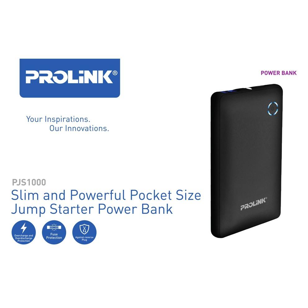 PROLINK PJS1000 Slim and Powerful Pocket Size Jump Starter Powerbank