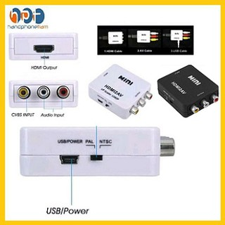 Converter HDMI2AV To AV RCA / HDMI To RCA Full HD 1080P Mini Box #DB027
