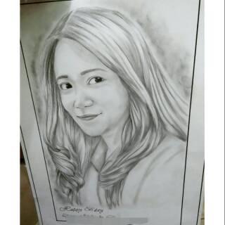 Sketsa Wajah Bingkai Shopee Indonesia