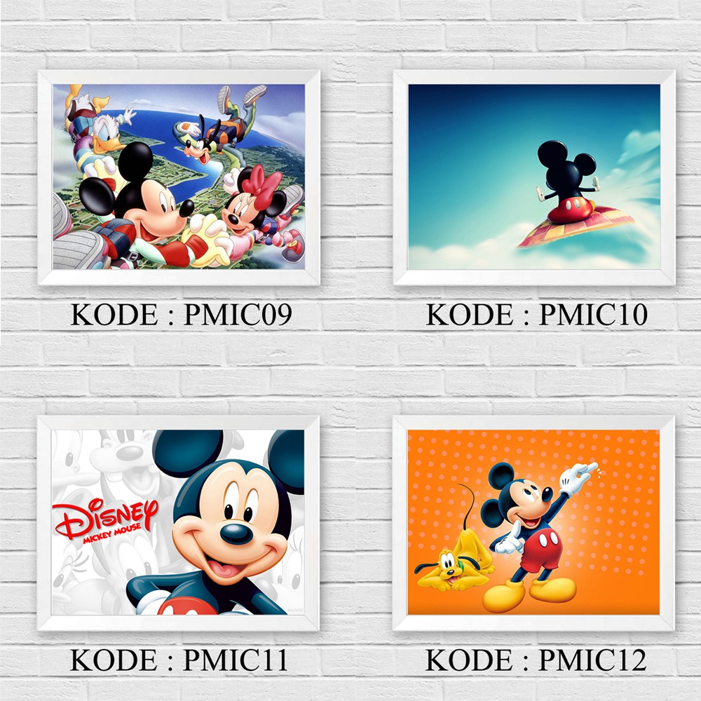 Hiasan Dinding Dekorasi Rumah Kartun Mickey Mouse Pajangan Poster Anak Ukuran A4 Shopee Indonesia