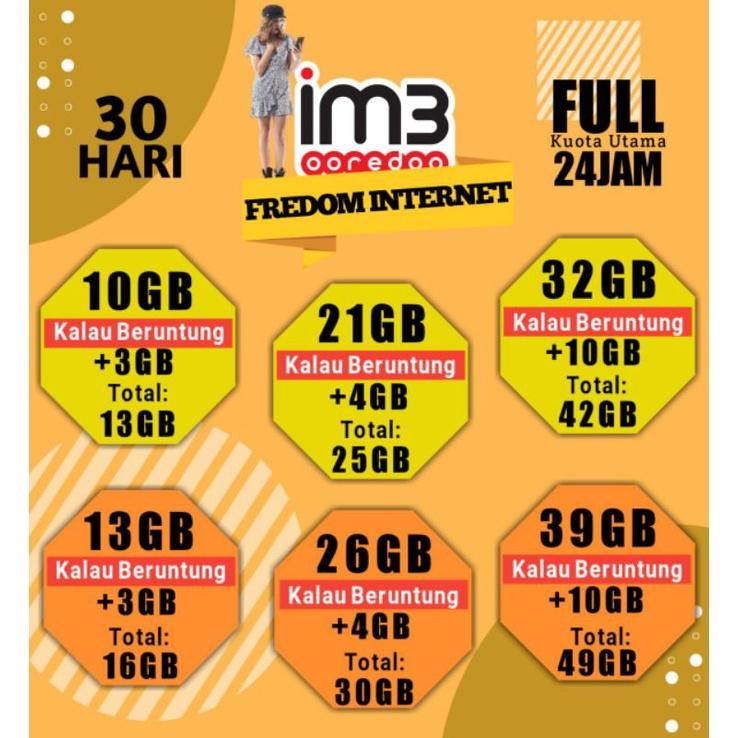 Paket Data INDOSAT 32GB | INDOSAT 39GB | INDOSAT 50GB | INDOSAT 21GB