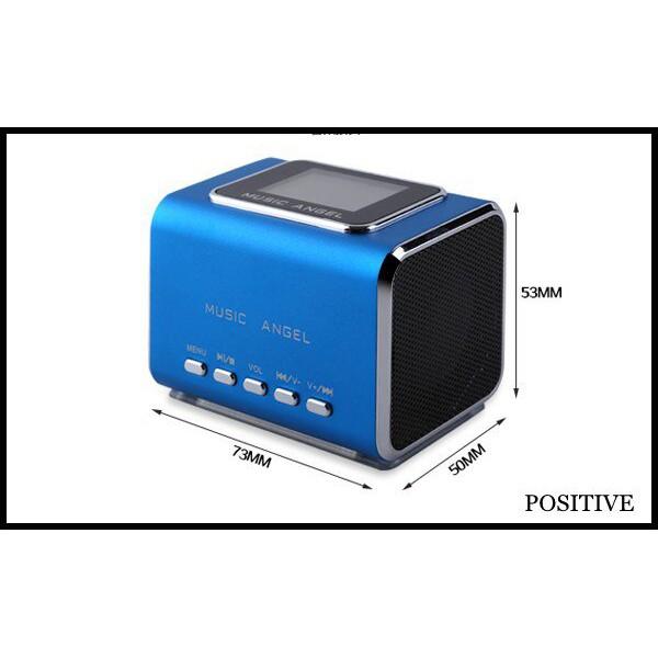 Music Angel Portable Usb TF Card Sounding Speakers FM RADIO Mp3 PC Speakers