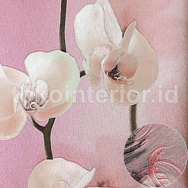 Wallpaper Dinding Motif Bunga Anggrek Cantik Putih Dan Pink