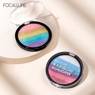 FA35 FOCALLURE Rainbow Highlighter Mineral Powder 3D Face Shimmer Bronzer Highlighter Makeup thumbnail