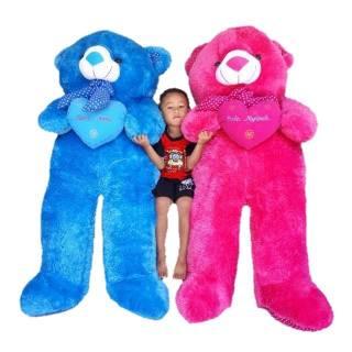 UKIR NAMA atau FOTO   TERMURAH Boneka beruang teddybear super jumbo motif  (T150cm) 187bd51d2e