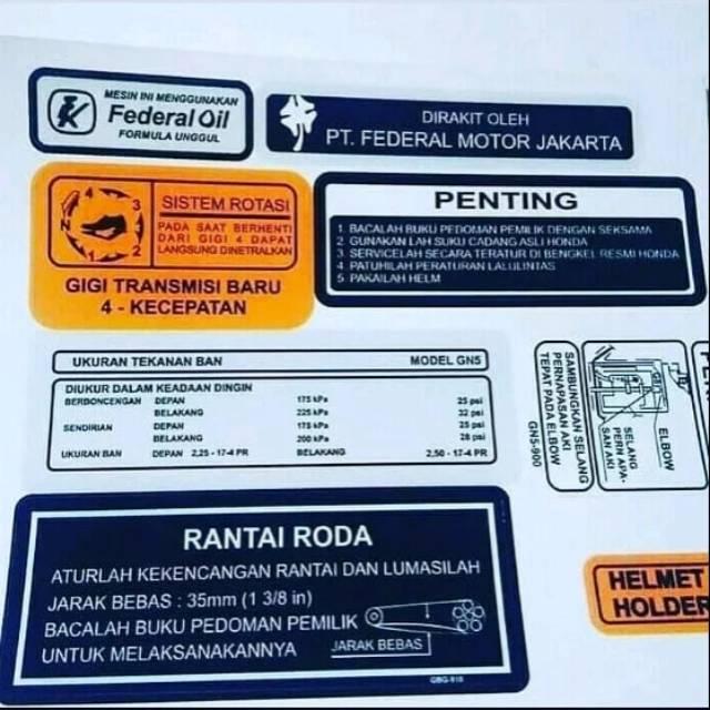 Sticker Detail Honda Astrea Grand  Impressa  Legenda
