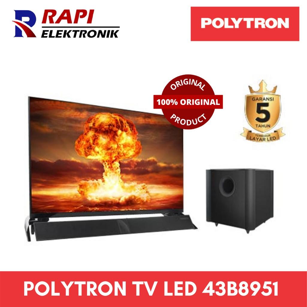 POLYTRON TV LED 43 inch 43B8951 SOUNDBAR