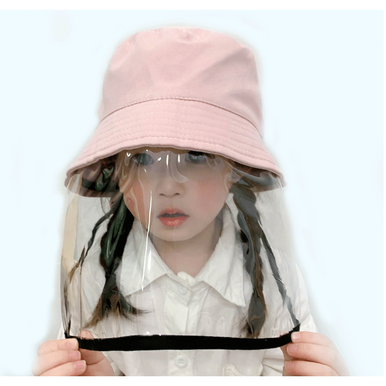 Topi anak Pelindung matahari Topi nelayan Topi kuning pink Protective Face  Mask / Face Shield / Hat Protective / Face Mask / Eyewear Glasses Mask |  Shopee Indonesia