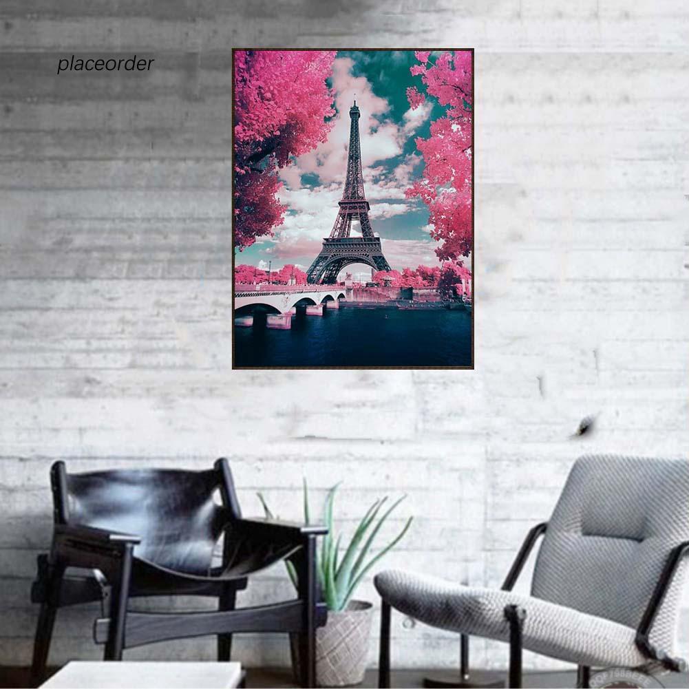 DIY Lukisan Diamond 5D Dengan Gambar Menara Eiffel Untuk Hiasan Dekorasi Rumah