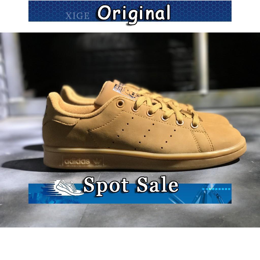 Sepatu Sneakers Desain Adidas Stan Smith Wheat Warna Coklat Ukuran 36-44  2f22685e36