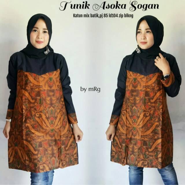 Tunik Batik Wanita Kantoran Atasan Batik Wanita Modern Jual Batik Wanita Termurah