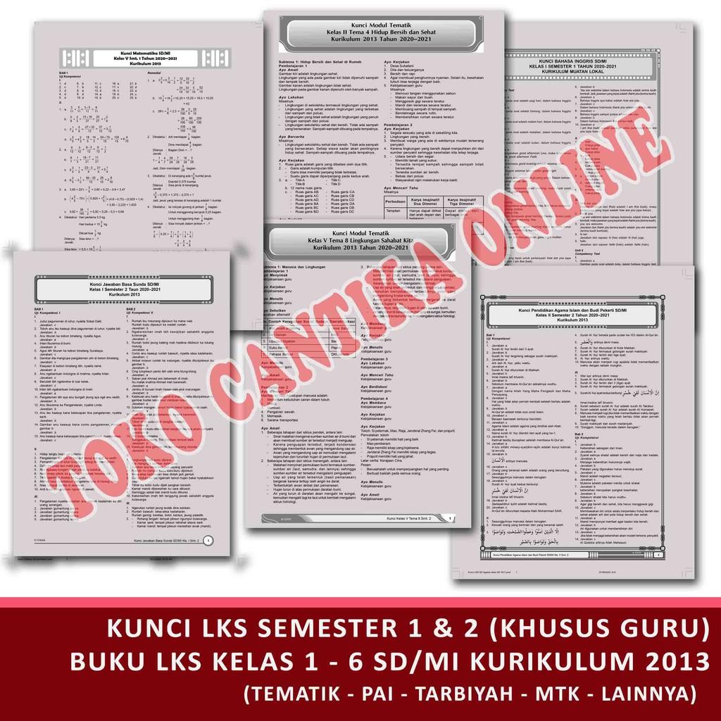 Kunci Jawaban Lks Modul Kelas 123456 Sd Mi Semester 1 2 Khusus Pegangan Guru Kurikulum 2013 Shopee Indonesia
