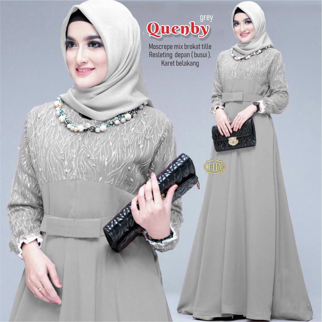 Gamis Modern brokat tile mewah model gamis tile Baju Batik Wanita Batik  Rezz Art