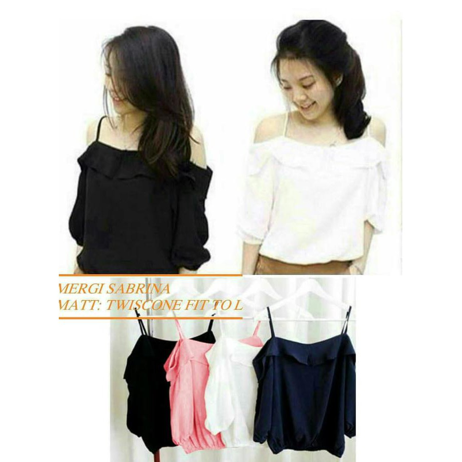 Best Quality Samantha Blouse Bahan Twiscone Fit L 1Ssjp - Kuning, L   Shopee Indonesia