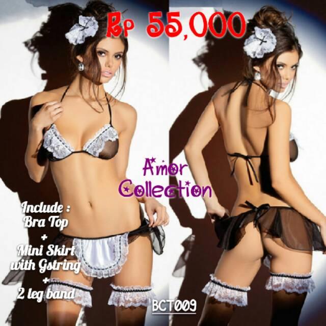 Lingerie kostum  costum maid  pembantu  pelayan (BCT009)  6de37df540