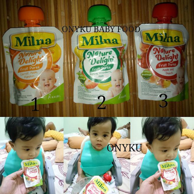 Enak Milna Snack Buah Bayi Fruit Puree Jus Lembut Cemilan Makan
