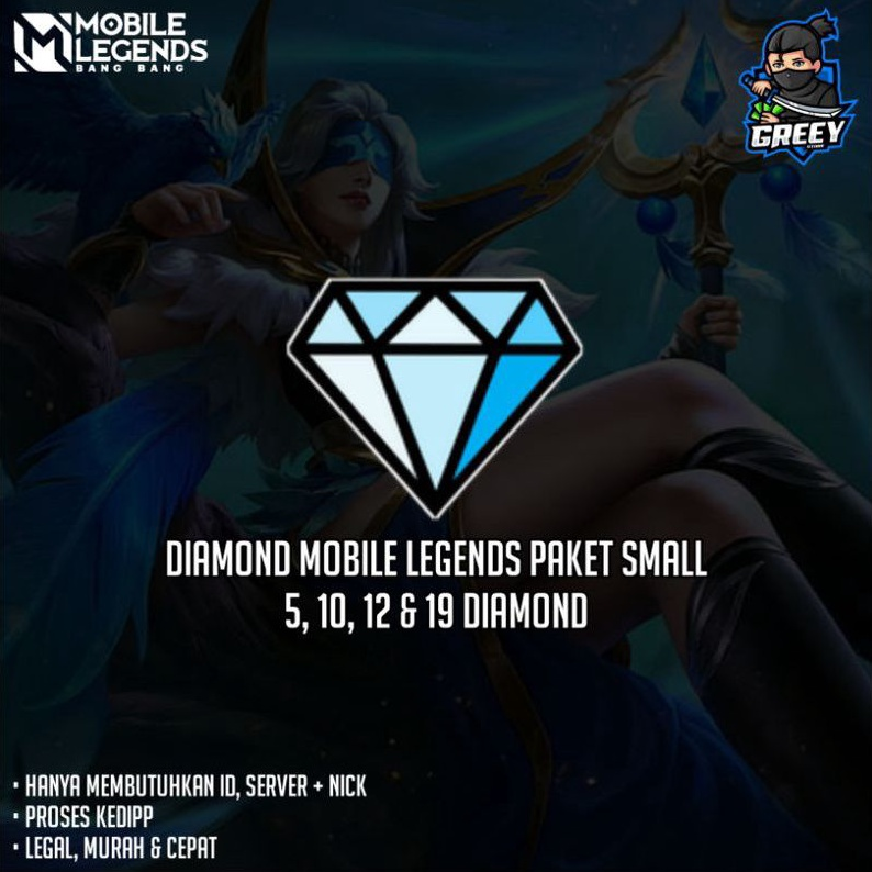 TOP UP DIAMOND MOBILE LEGENDS - 5/10/12/19 DM ML PAKET KECIL/SMALL MURAH