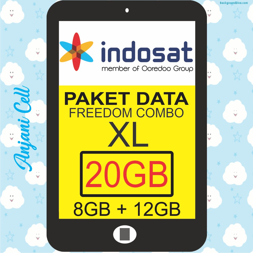 Proses Langsung Indosat Freedom Combo L 12gb Baru 4gb 8gb 4g Injek Internet Shopee Indonesia