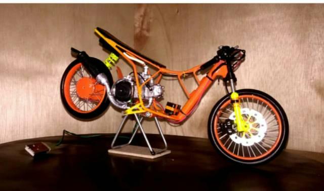 Termurah Miniatur Motor Mio Drag Keren Bisa Di Gas Shopee Indonesia