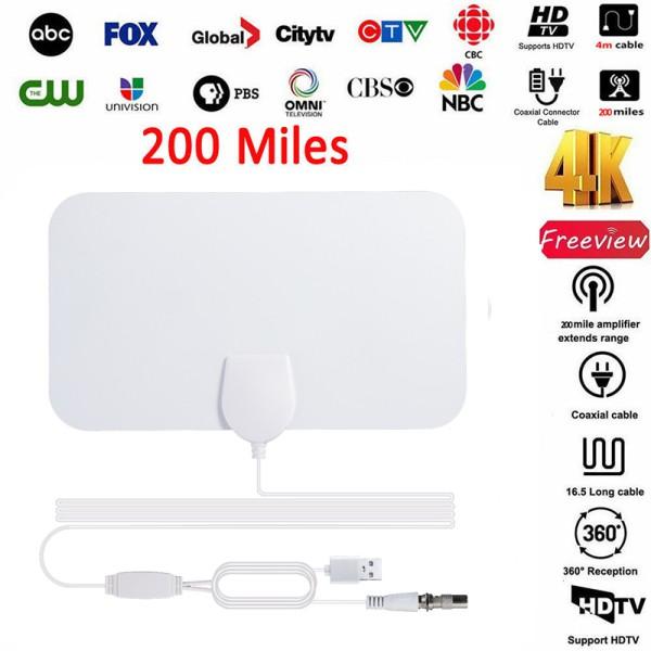 350 Mile Range Antenna TV Digital HD Skywire Antena Digital HDTV 1080p Indoor