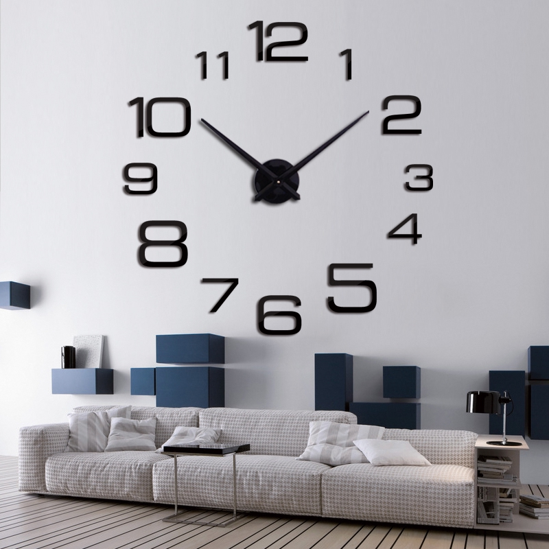 Dekorasi Rumah Jam Dinding Termometer Stopwatch LED Model Digital