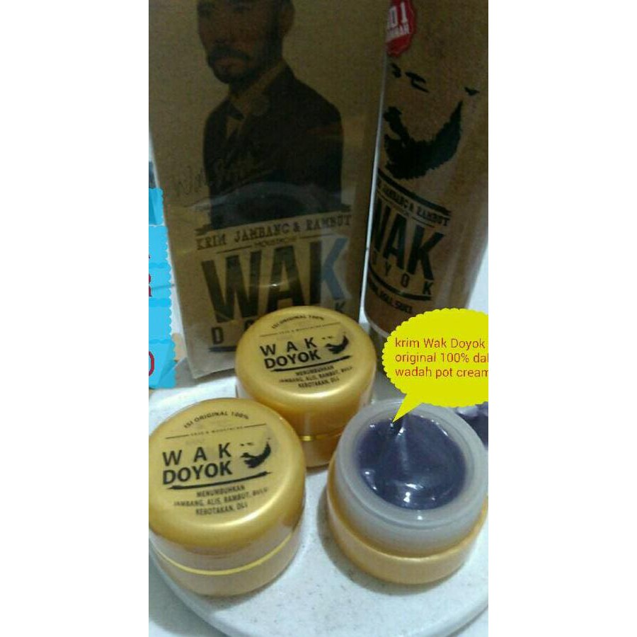 Cream Krim Wak Doyok Wakdoyok Rambut Jambang Sample Jar Original Kemasan Hemat Penumbuh Jenggot Kumis Alis Rambutimport Malaysia Asli Produk 100 Shopee
