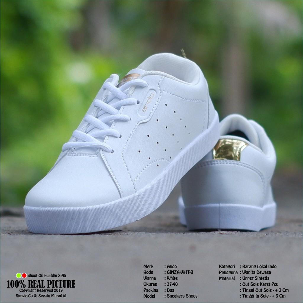 Sepatu Sneakers Wanita Ando Ginza 37 40 Shopee Indonesia