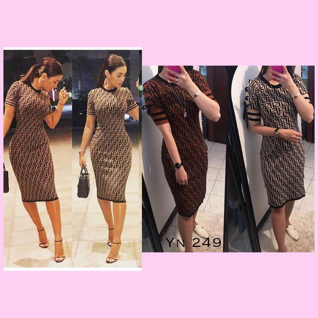 Bodycon Dress Midi Fendi Material Rajut Premium Knit Import Hk Ycb249 Back To Office Basic Pencil Skirt Rk105 Rok Span Fit S L Vrf1905 Shopee Indonesia