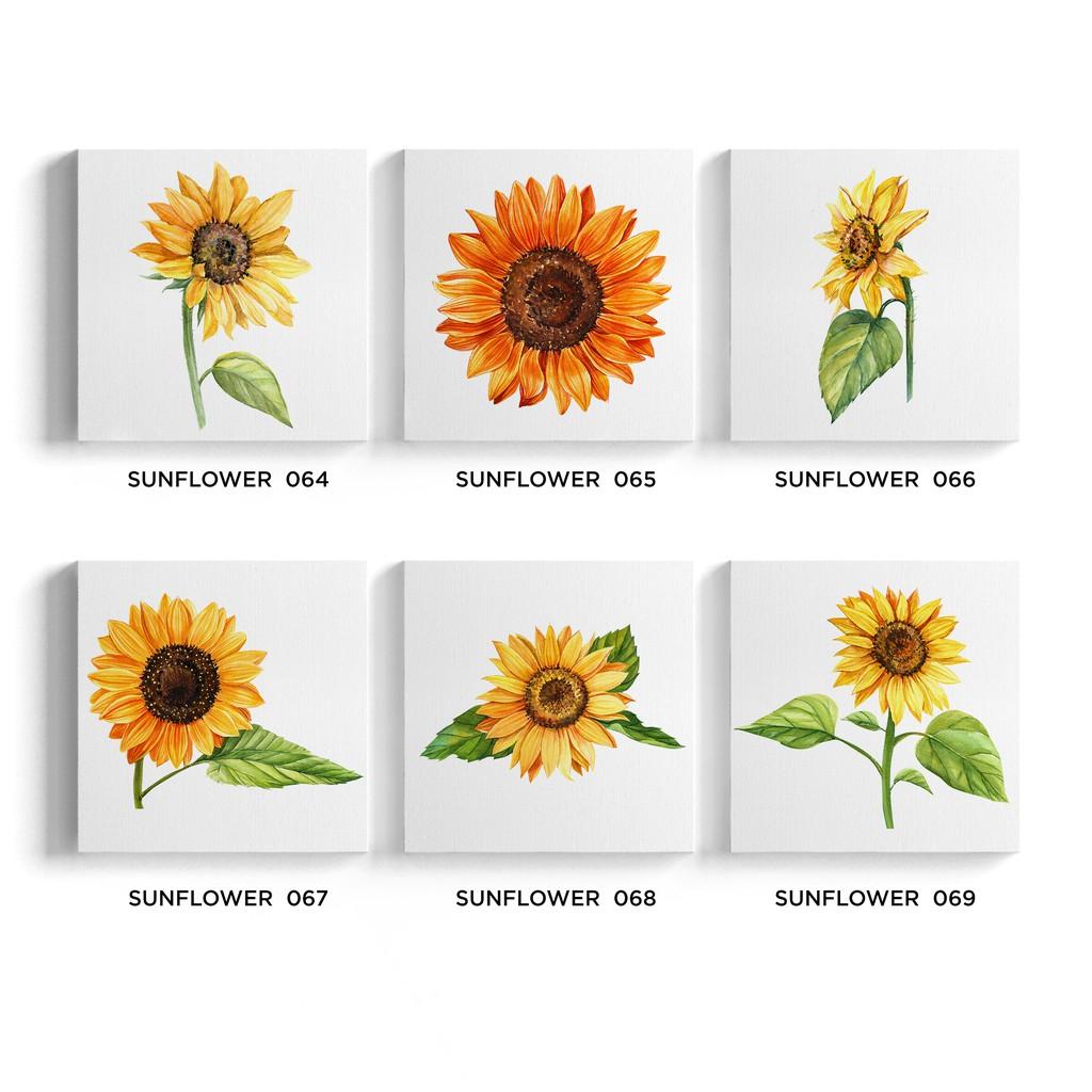 Lukisan Dekorasi Sunflower Poster Kanvas Hiasan Dinding Bunga Matahari 27x27cm Shopee Indonesia